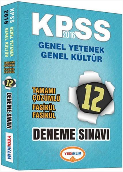 Yediiklim KPSS Genel Yetenek-Genel Kültür Tamamı Çözümlü Fasikül 12 Deneme.pdf