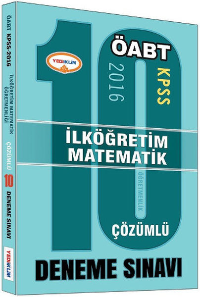 Yediiklim KPSS ÖABT İlköğretim Matematik Öğretmenliği Çözümlü 10 Deneme Sınavı.pdf