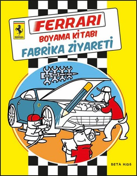 Ferrari Boyama Kitabı Fabrika Ziyareti Kitap Müzik Dvd çok