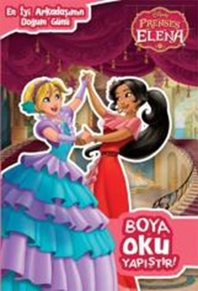 En Iyi Arkadaşımın Doğumgünü Disney Prenses Elena Boya Oku Yapıştır