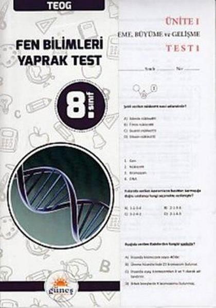 8. Sınıf TEOG Fen Bilimleri Yaprak Test.pdf