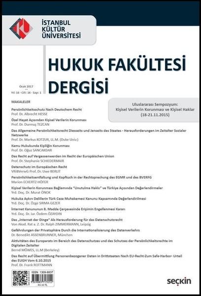 İstanbul Kültür Üniversitesi Hukuk Fakültesi Dergisi Sayı 1.pdf