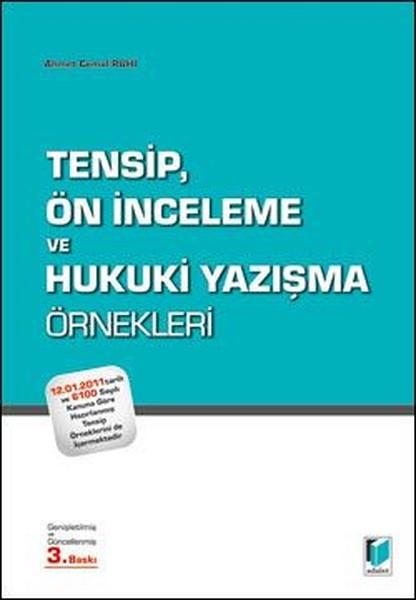 Tensip, Ön İnceleme ve Hukuki Yazışma Örnekleri.pdf