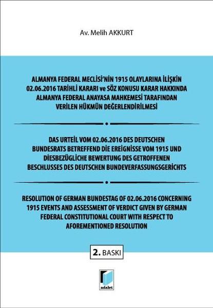 Almanya Federal Meclisinin 1915 Olaylarına İlişkin 02.06.2016 Tarihli Kararı ve Söz Konusu Karar Ha.pdf