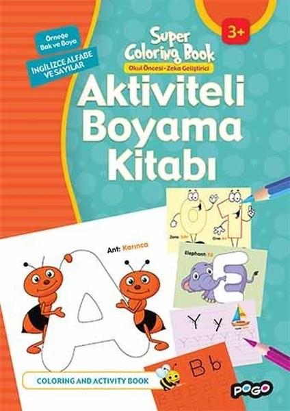 Aktiviteli Boyama Kitabi Ingilizce Alfabe Ve Sayilar Kolektif