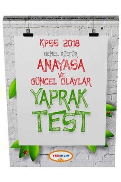 2018 KPSS Genel Kültür Anayasa ve Güncel Olaylar Yaprak Test.pdf