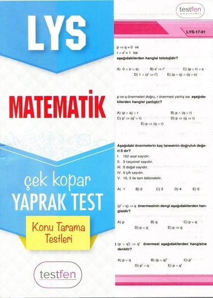 LYS Matematik Konu Tarama Yaprak Testleri.pdf