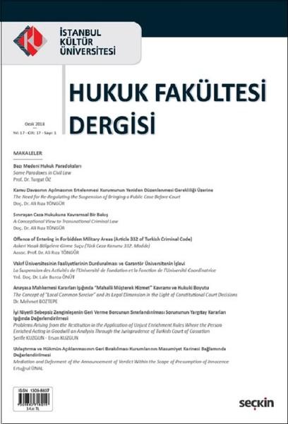 İst.Kültür Üniv.Hukuk Fak.Dergisi Cilt:17-Sayı:1.pdf
