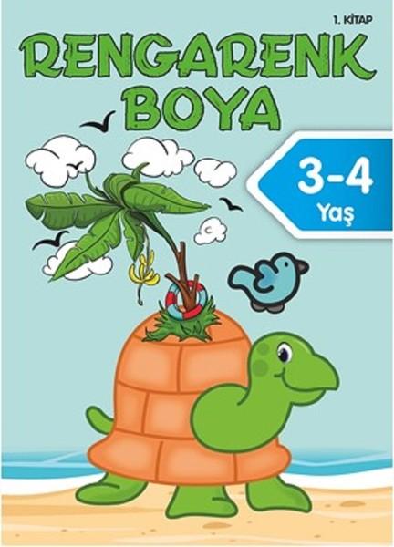 Rengarenk Boyama 3 4 Yas 1 Kitap Fiyatlari Ozellikleri Ve
