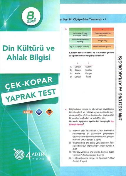 8. Sınıf Din Kültür ve Ahlak Bilgisi Çek-Kopar Yaprak Test.pdf