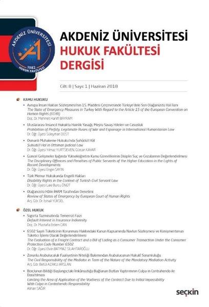 Akdeniz Üniv. Hukuk Fak. Dergisi Cilt:8 Sayı:1.pdf
