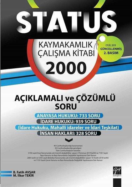 Statüs Kaymakamlık Çalışma Kitabı-2000 Açıklamalı ve Çözümlü Soru.pdf
