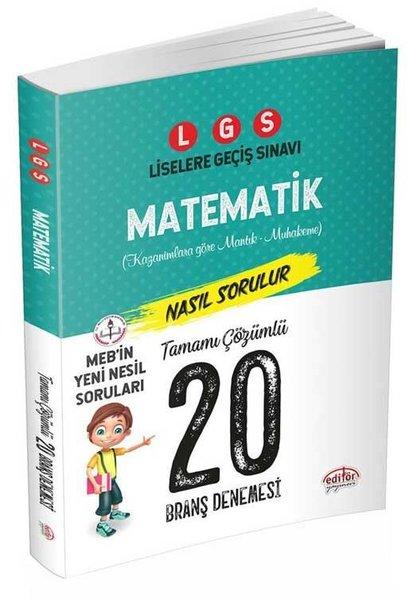Editör 8.Sınıf LGS Matematik Tamamı Çözümlü 20 Deneme.pdf
