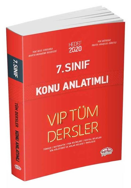Editör 7.Sınıf VIP Tüm Dersler Konu Anlatımlı Kırmızı Kitap.pdf
