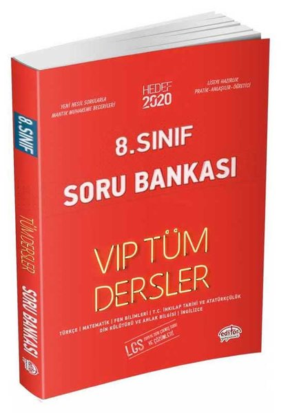 Editör 8.Sınıf VIP Tüm Dersler Soru Bankası Kırmızı Kitap.pdf