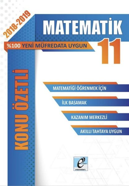 E-Kare 11.Sınıf Matematik Konu Özetli Soru Bankası Seti.pdf