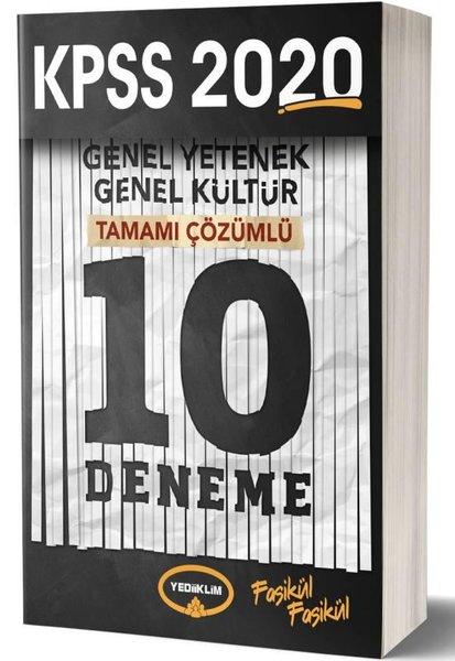 Yediiklim 2020 KPSS GK GY Tamamı Çözümlü 10 Deneme Sınavı.pdf