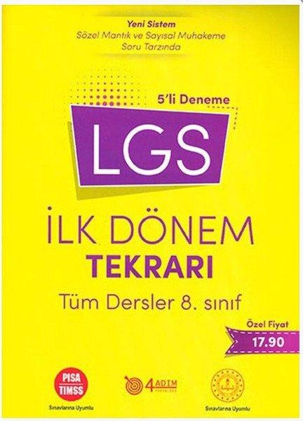 4 Adım 8.Sınıf LGS İlk Dönem Tekrarı Tüm Dersler 5 li Deneme.pdf