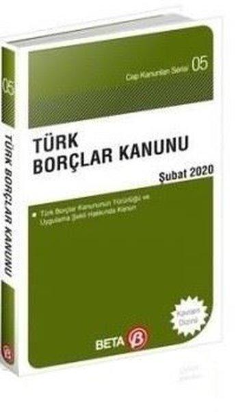 Türk Borçlar Kanunu-Şubat 2020-Cep Kanunları Serisi.pdf