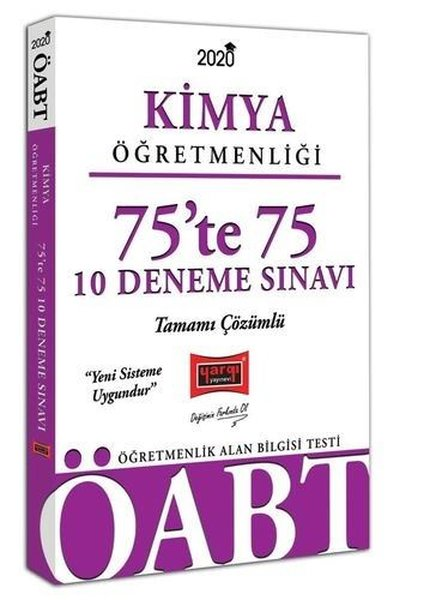 Yargı Yayınları 2020 ÖABT Kimya Öğretmenliği 75'Te 75 Tamamı Çözümlü 10 Deneme Sınavı.pdf