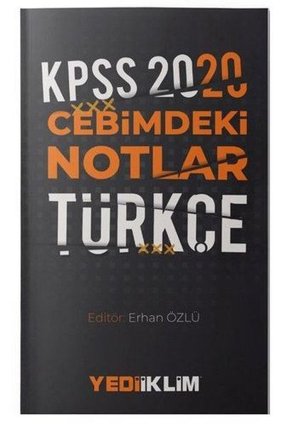 Yediiklim Yayınları 2020 KPSS Cebimdeki Notlar Türkçe.pdf