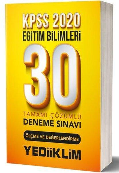 Yediiklim Yayınları KPSS 2020 Eğitim Bilimleri Ölçme Ve Değerlendirme Tamamı Çözümlü 30 Deneme.pdf