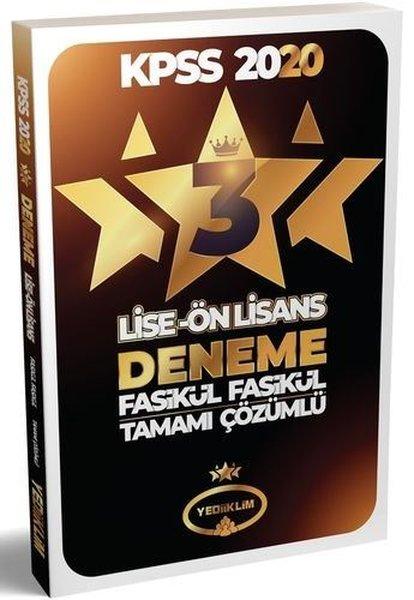 Yediiklim Yayınları 2020 KPSS Lise Önlisans Tamamı Çözümlü 3 Yıldız 3 Fasikül Deneme.pdf
