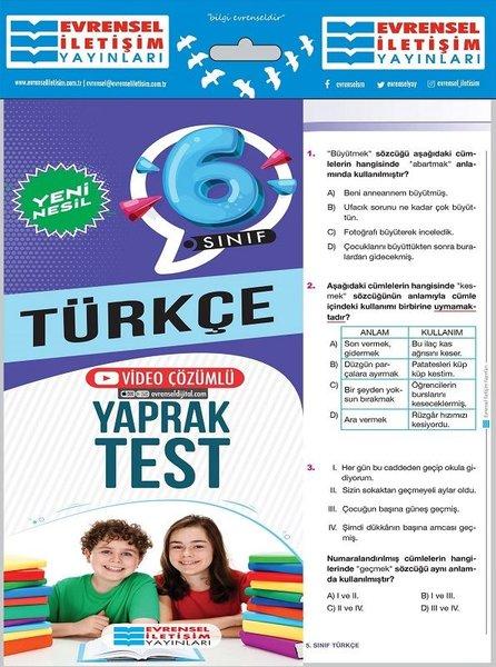 6. Sınıf Türkçe Yeni Nesil Yaprak Test.pdf