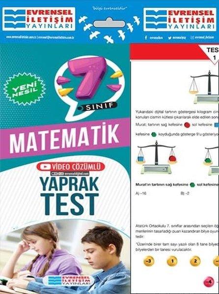 7. Sınıf Matematik Yeni Nesil Yaprak Test.pdf