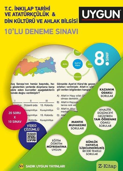 8.Sınıf Deneme Kitabı 10Lu  İnkılap Tarihi Ve Atatürkçülük - Din Kültürü Ve Ahlak.pdf
