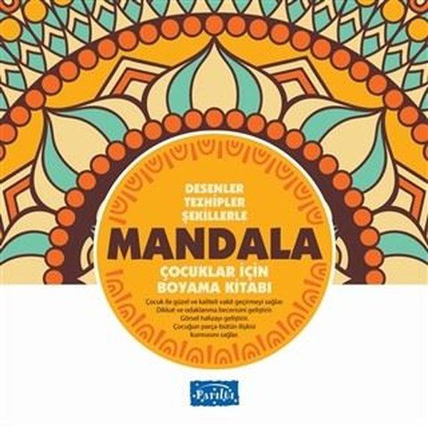 Desenler Tezhipler Şekillerle Mandala - Sarı Kitap - Çocuklar İçin Boyama Kitabı.pdf