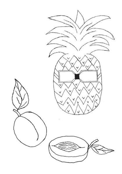 Yildiz Cocuk Boyama Kitabi Serisi 3 Meyveler Dilara Karlidag