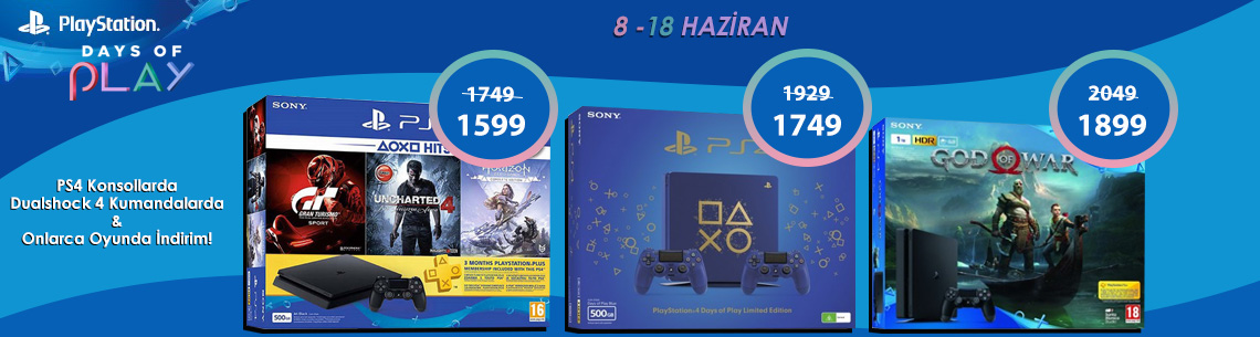 PlayStation Days of Play 8-18 Haziran 2018