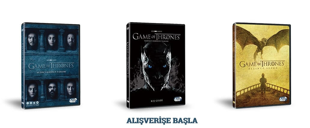 Game of Thrones DVD ve BLURAY'leri